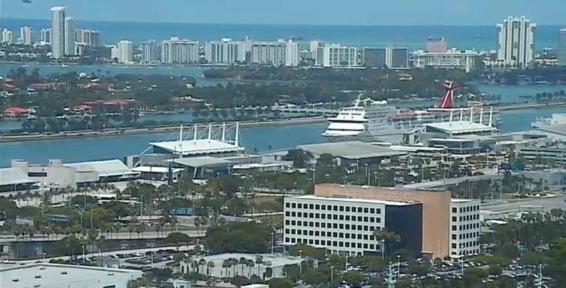 Webcam Miami Port