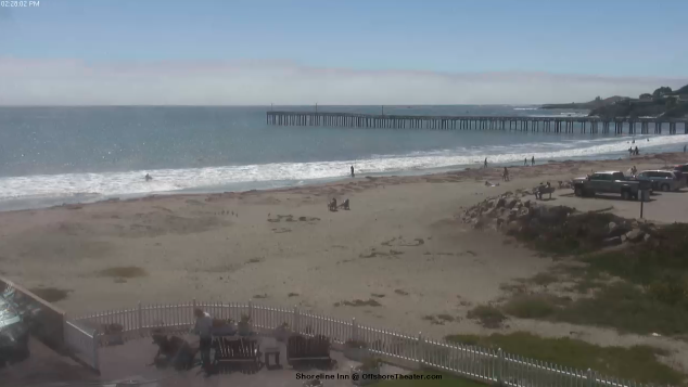webcam Cayucos Beach San Luis Obispo