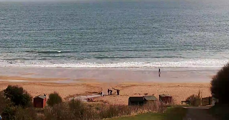 webcam Coldingham Bay Berwickshire