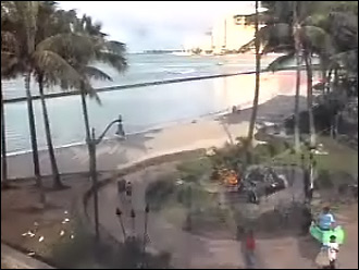 webcam Honolulu Kuhio Beach Oahu